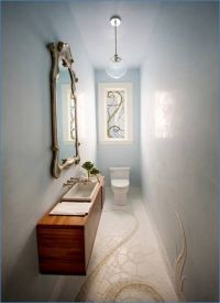 bathroom makeovers for long skinny bathrooms | Narrow ...