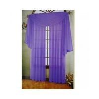 PURPLE SHEER CURTAINS PANELS SCARF VALANCE DRAPES VOILE ...