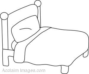 Youth Bedroom Furniture on Bed Coloring Page Clip Art