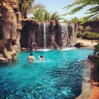 Grado style with #waterfall flowing into a pool | Great ...