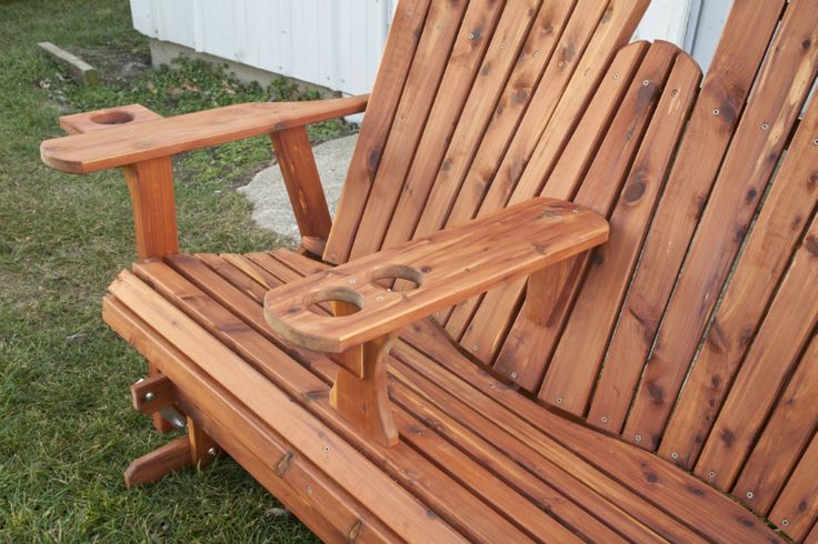 double rocking adirondack chair plans hanging walmart outdoor glider loveseat | diy woodworking