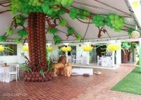 decoration balloons in hut by lake | Adriel Lion King ...