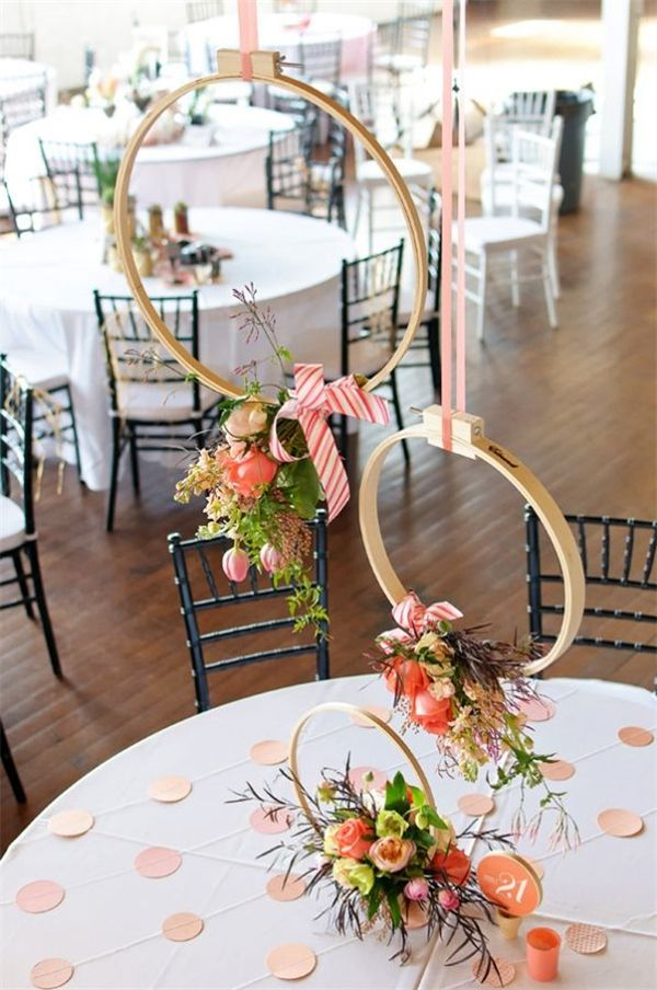 25 Unique Embroidery Hoops Boho Wedding Decor Ideas  Embroidery hoops Umbrella centerpiece and