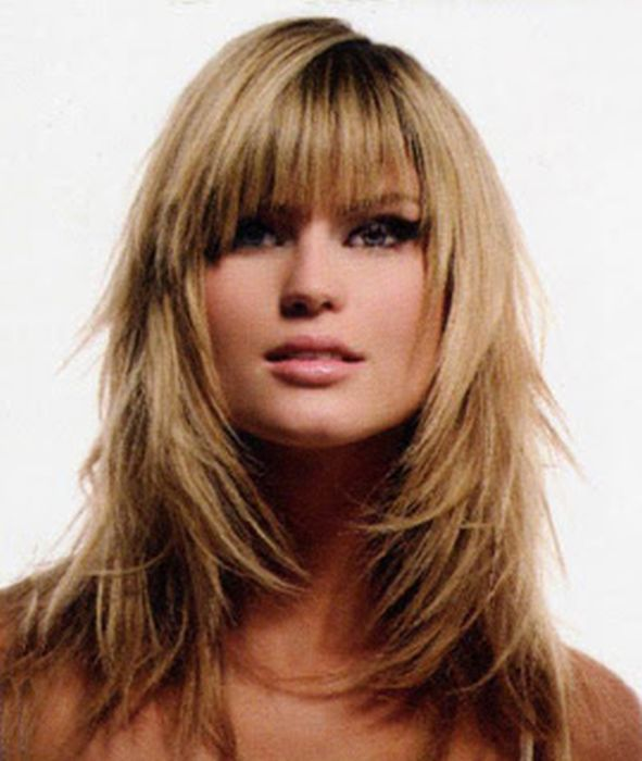 25 Best Ideas About Layered Haircuts With Bangs On Pinterest