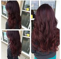 Ombre violet red purple hair, want to die my hair this ...