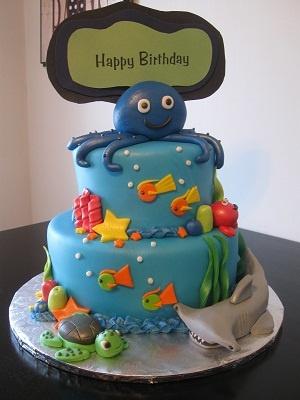 Under the Sea Birthday Cake  Cest La Vie Custom Cakes