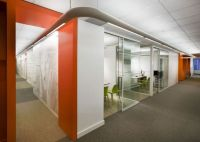 Orange-office-interior-for-wall-combined-by-white-color ...