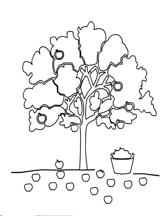 Apple tree, The giving tree and Coloring on Pinterest