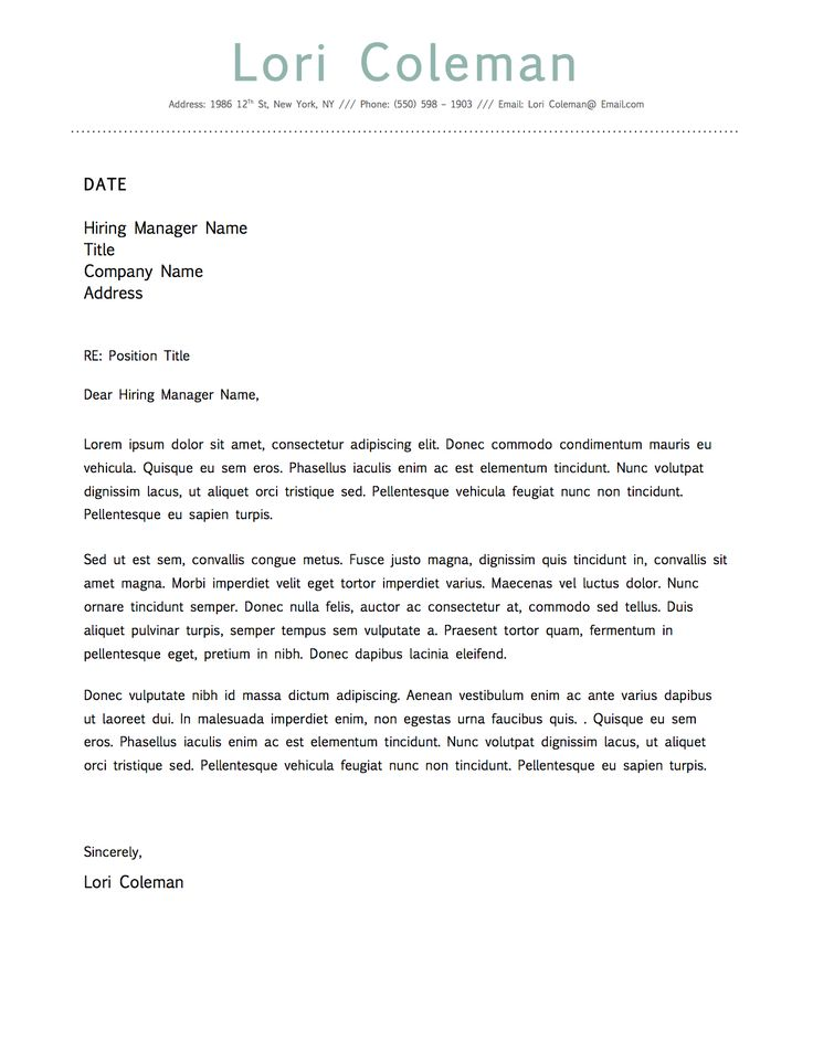 Simple Beautiful Cover Letter Template for Microsoft Word  Beautiful Simple Dot Resume Template