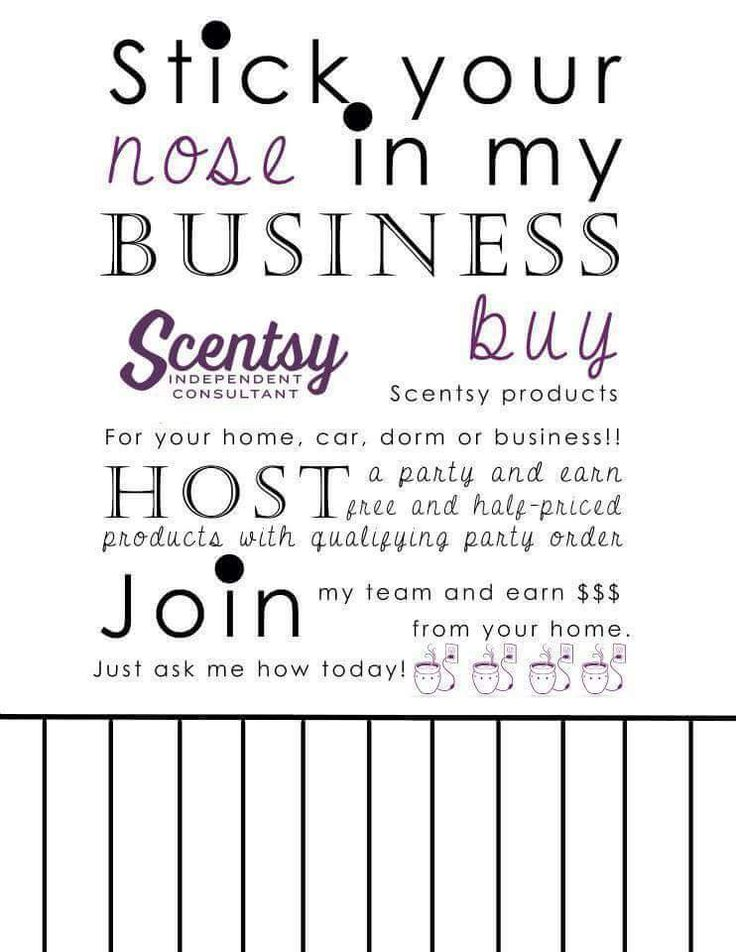 Scentsy club flyer