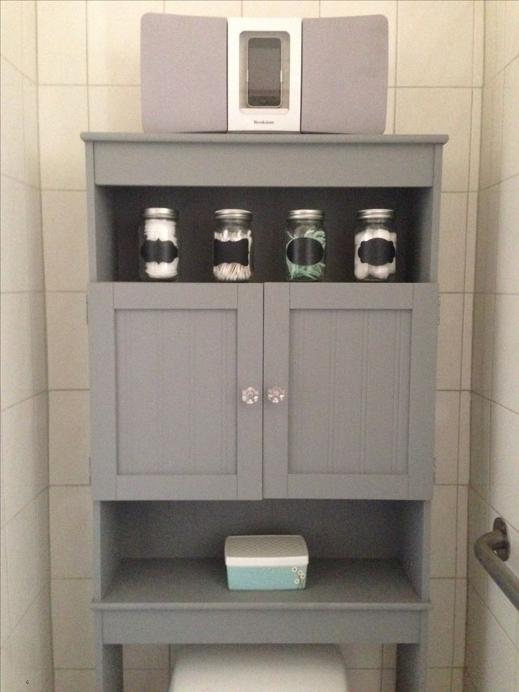 Redid the overthetoilet storage left behind by the