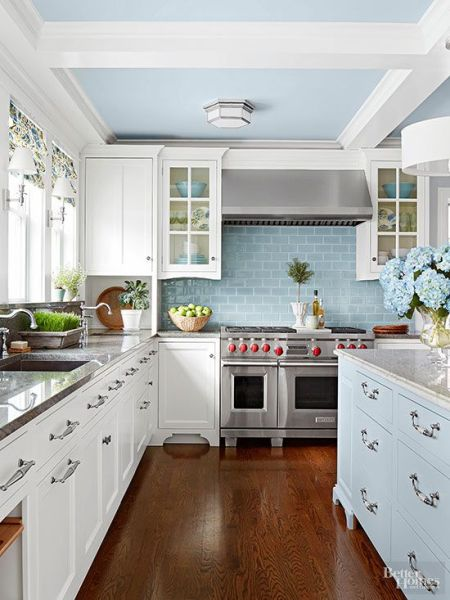 blue and white kitchen cabinet ideas 25+ best ideas about Light blue kitchens on Pinterest