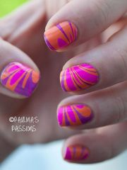 water marble nail art design