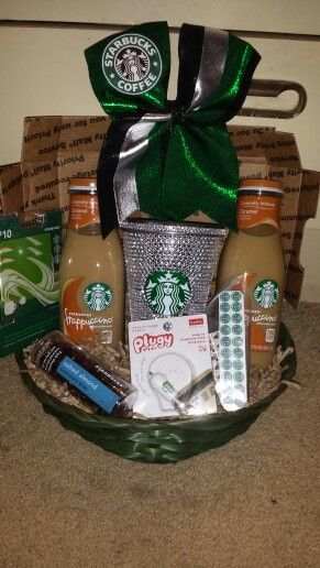The ultimate teenager Starbucks Easter basket. Fully loaded with what any teen girl needs.