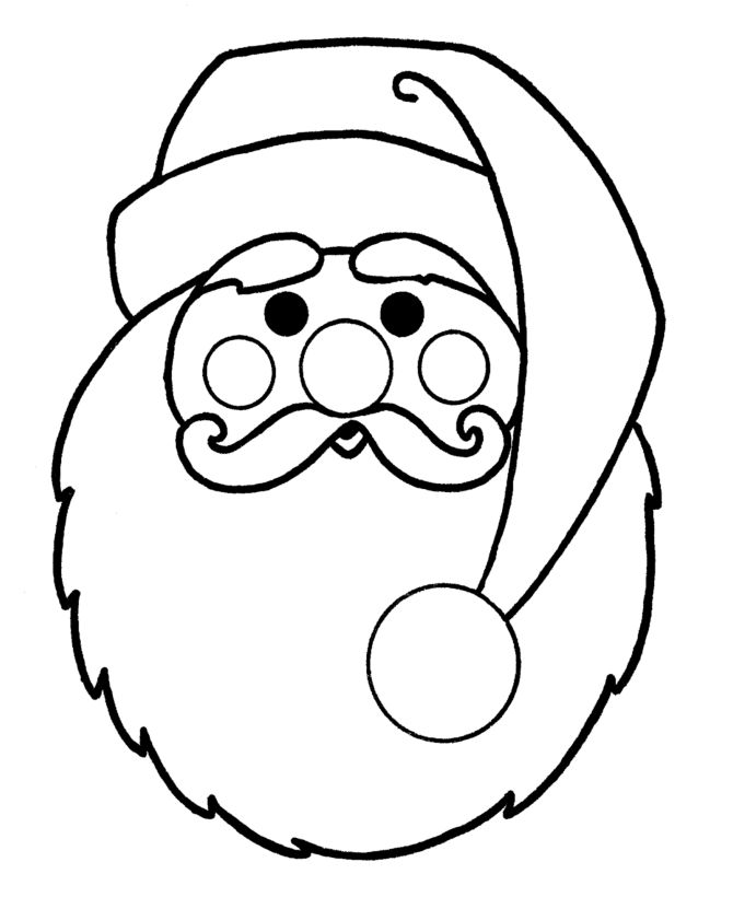 christmas coloring pages printable for applique