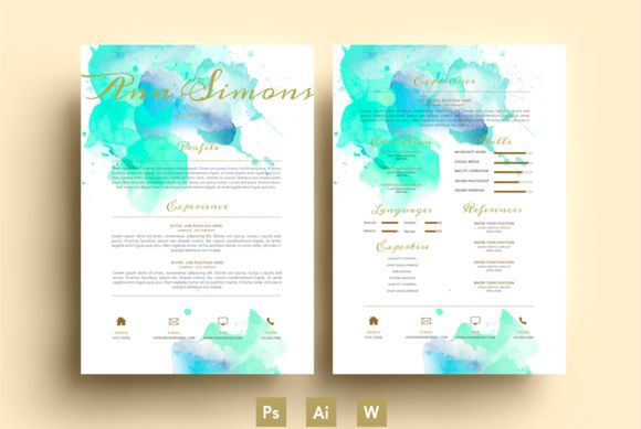 15 best images about resume inspiration on Pinterest  Watercolor brushes Watercolors and Creative