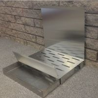 Fireplace Grate, Ashtray & Reflector. Integrated Reflector ...