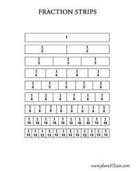 Fraction Strips Worksheets 3rd Grade - fractions ...