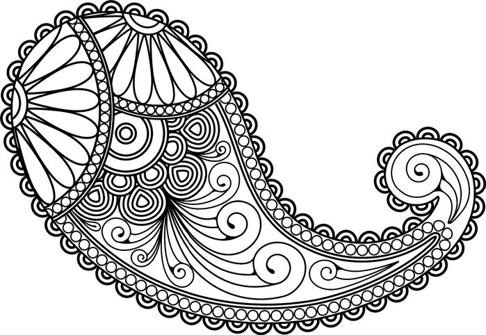 17 Best images about Line Art ~ Paisley on Pinterest