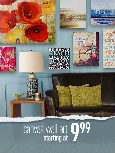 Get it at Gordmans  furniture  Pinterest  Home Home decor and Canvas wall art