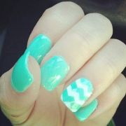chevron aqua nails nail time