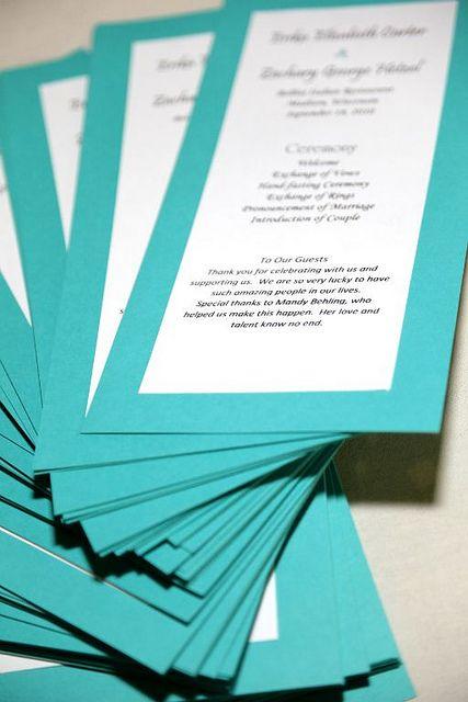 One Page Wedding Program Template Wedding Programs