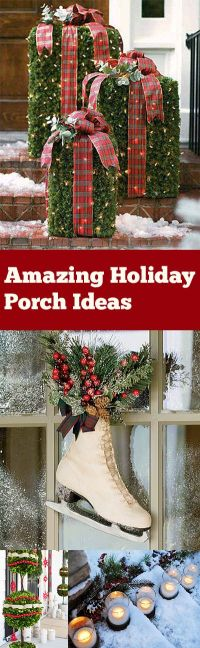 25+ best ideas about Christmas porch decorations on ...
