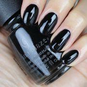 black nail polish ideas