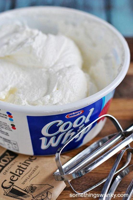 Homemade Cool Whip | www.somethingswanky.com: