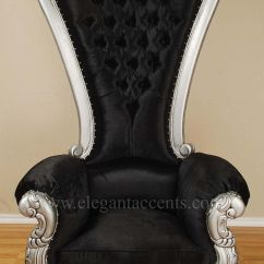 How To Make A Queen Throne Chair Bedroom Ideas Ikea Carved Mahogany Louis Xv Beregere Armchair Regal Silver Black Velvt | ...