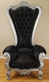 Carved Mahogany Louis XV Beregere Armchair Regal Throne ...