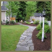 Simple Walkway Ideas | ... Walkways can be intricate stone ...