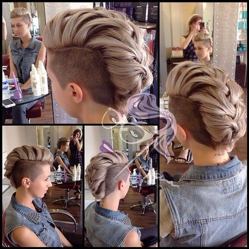 25 Best Ideas About Long Hair Shaved Sides On Pinterest Shaved