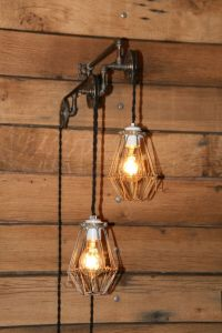 Industrial Pulley Light Wall Sconce - Trolley Wall Light ...