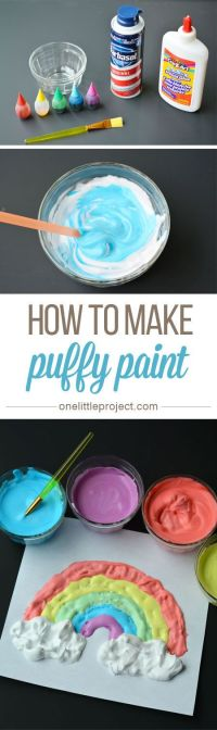 17 Best ideas about Puffy Paint Crafts on Pinterest