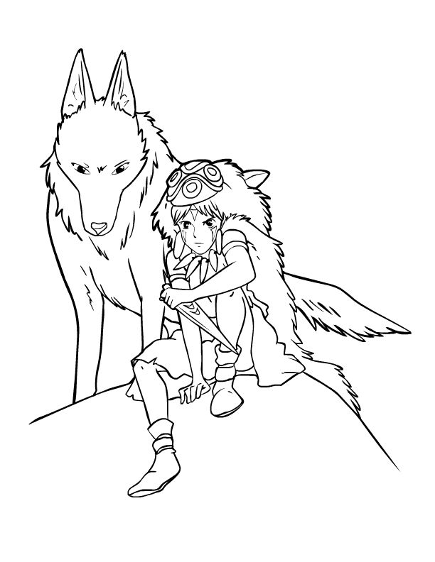 53 best images about studio ghibli coloring pages on Pinterest