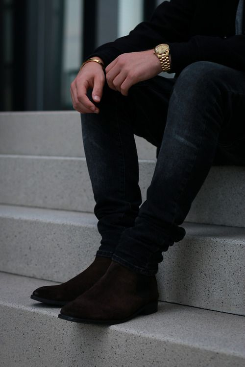 Leather or suede black chelsea boots malefashionadvice