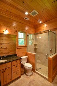 Rustic Small Bathroom Walk In Shower Glass Enclosures ...