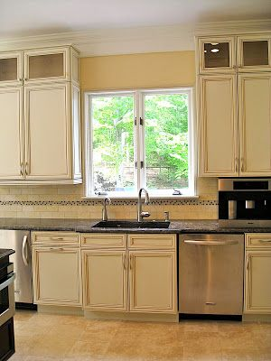 kitchen refinishing ideas nightmare before christmas help w/ backsplash... off white buttercream glazed ...