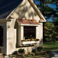 Copper Roof Design, bump out window, window box