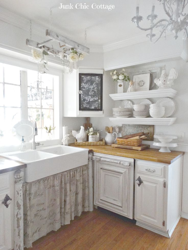 25+ best ideas about White Farmhouse Kitchens on Pinterest