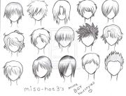 ideas anime boy hairstyles