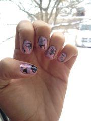splattered paint nails