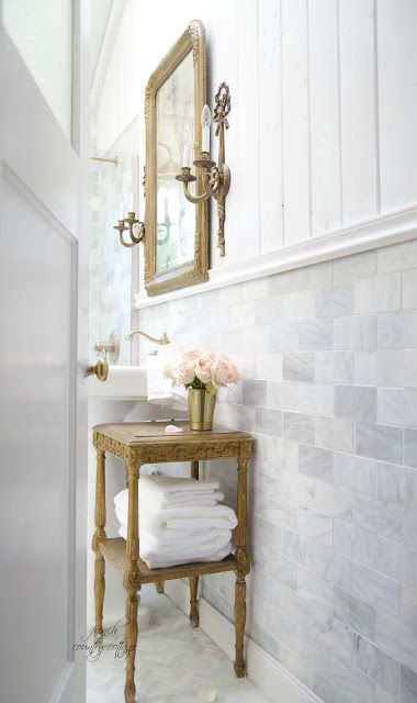 FRENCH COUNTRY COTTAGE French Cottage Bathroom Renovation