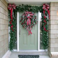 christmas doorway decorated