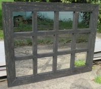 Reclaimed Barn Wood 12-Pane Window Mirror Rustic Wall ...