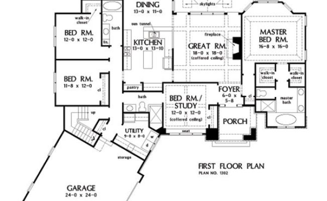 One Story House Plans With Split Master And Open Concept