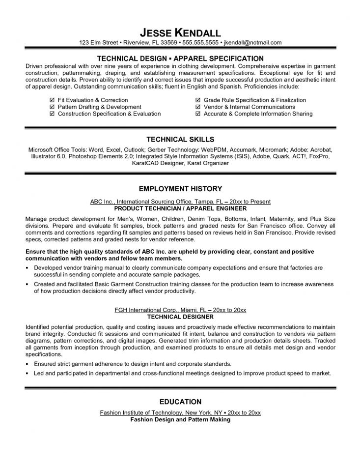 Top 10 Collection Technical Resume Examples  Resume Example  Pinterest  Tops Resume examples