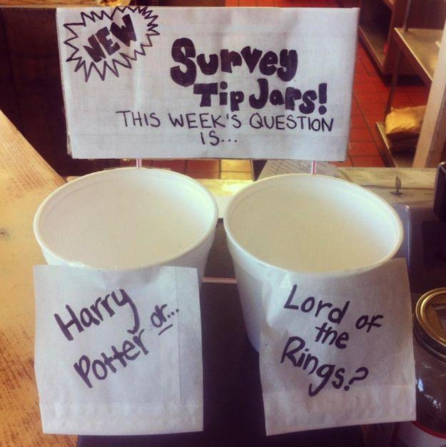 21 Incredibly Effective TipJars – Buzzfeed (I love the survey idea!!)