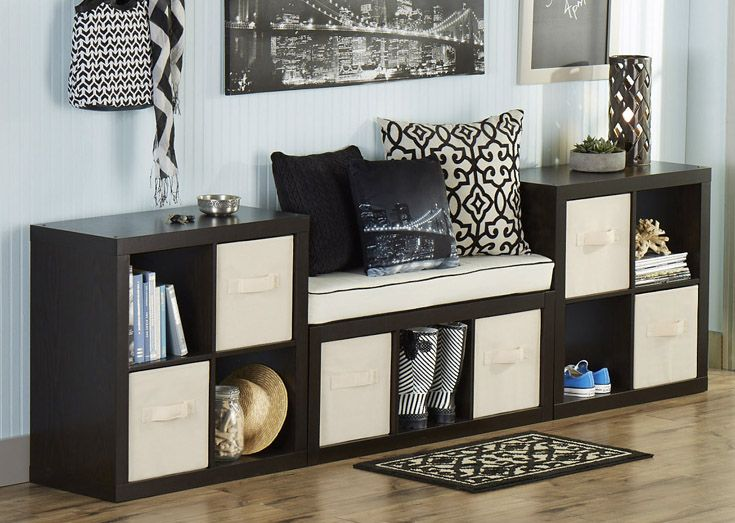 If you're building an entry way on a budget, our cube organizers and home decor can be combined to create a lasting impression